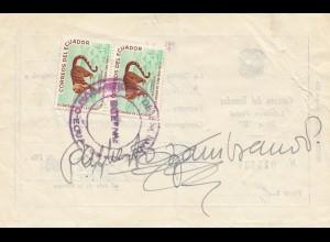 Ecuador: 1961 Libranza Postal Serie B