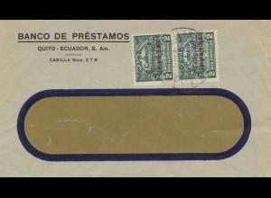 Ecuador: letter Banco de Préstamos, Correos Teleg. de Postal