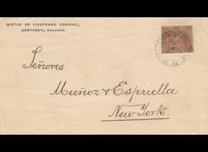 Ecuador: letter Nietos de Ildefonso Coronel Guayaquil to New York