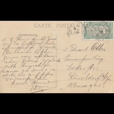 French colonies: Somalia: post card 1919 to Düsseldorf
