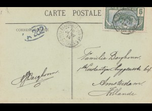 French colonies: Kongo: 1914: carte postale to Amsterdam