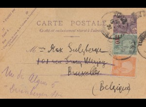 French colonies: Tunisie 1923: carte postale Tunis to Bruxelles