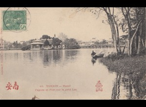 French colonies: Indo-chine post card to Lille