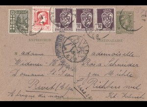 French colonies: Algerie 1945: post card to Richterswil