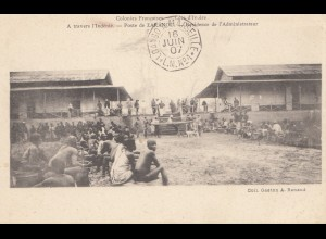 French colonies: Ivory Coast: 1907: post card Residence de L' Administrateur