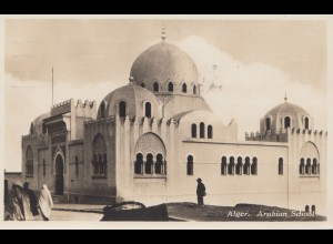 French colonies: Algerie: 1930 post card Arabian school to Oberschlema/Germany
