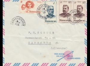 French colonies: Madagascar: 1953: Fianarantsoa to Hamburg
