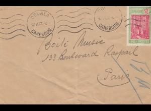 French colonies: Cameroun: Douala 1937 to Paris