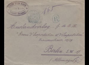French colonies: Madagascar: 1921 registered Tamatave to Berlin
