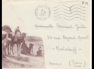 French colonies: Afrique: Poste aux armees (A.F.N.) to Malakoff/France