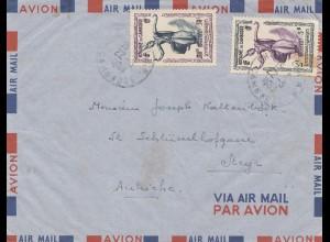 French colonies: Cambodge 1953 via air mal to Steyr/Austria
