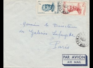 French colonies: Madagascar 1909: air mail to Paris