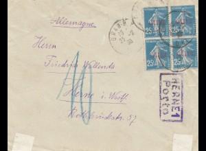 French colonies: Algerie 1926: Palais de Cristal to Herne - Taxe