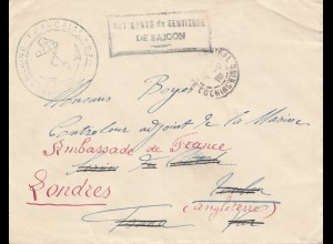 French colonies: Indo-chine 1910: Saigon to London-Ambassade de France