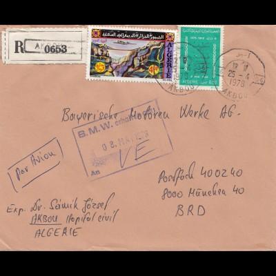 French colonies: Algerie 1978 par avion registered to BMW München