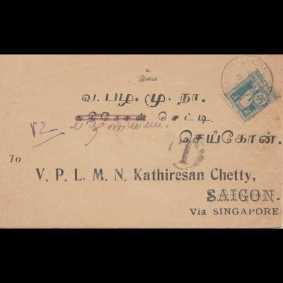 French colonies: Indo-chine 1919 to Saigon via Singapore