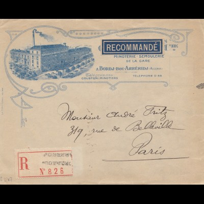 French colonies: Algerie: registered 1924 to Paris