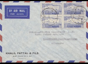 French colonies: Syrienne: Alep 1943 by air mail to Walderhof