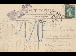 French colonies: Algerie 1914: carte postale Alger to Duisburg