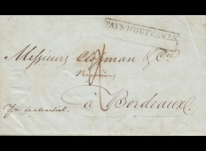 French colonies: Martinique 1834 to Bordeaux, Pays D'Outremer