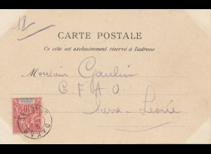 French colonies: Senegal: post card 1905 to Sierra Leone