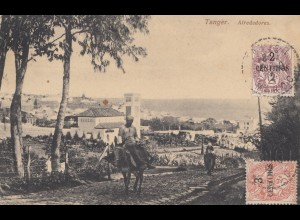 French colonies: Maroc 1912: post card Tanger to Seifhennersdorf