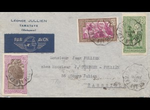 French colonies: Madagascar 1939: Air Mail to Marseille