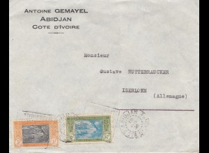 French colonies: Ivory coast: 1936: Abidjan to Iserlohn