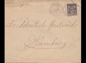 French colonies: Turk d'asie 1901: Smyrne to Hamburg