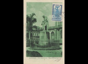 French colonies: Martinique: Fort de France: Post card to France