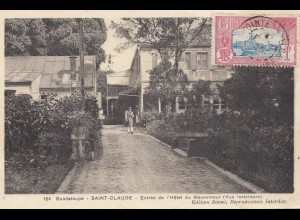 French colonies: Guadelupe: Saint Claude post card 1935 to France