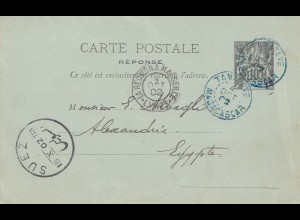 French colonies: Madagascar 1902: Tamatave to Suez/Alexandria
