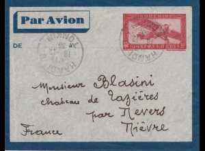 French colonies: Indo-chine: 1933 par avion Hanoi to France