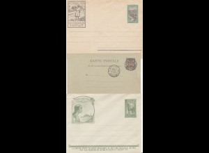 French colonies: Madagascar 3x covers, 1895 and 2 unused covers