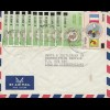 French colonies: Zaire: 1992: air mail to Lisse/Holland