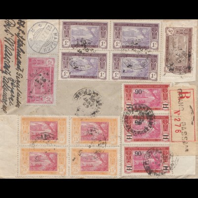 French colonies: Ivory Coast: 1929 registered letter to Maisach/Germany
