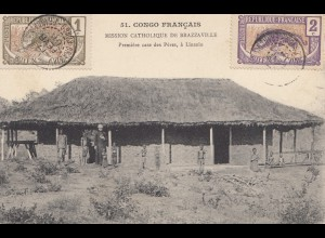 French colonies: Congo 1908: post card Mission Chatolique de Brazzaville