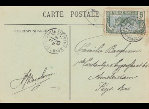French colonies Congo 1913 post card No7, dans la foret Brazzaville / Amsterdam