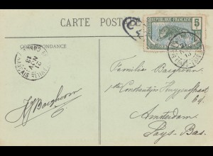 French colonies Congo 1913 post card No6, Riviere Sembe Brazzaville / Amsterdam