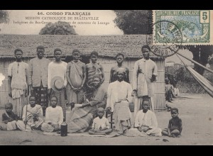 French colonies Congo 1908: post card Brazzaville No46, Mission Catholique