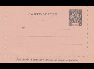 French colonies Martinique: carte-lettre, unused