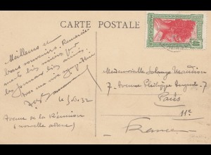 French colonies Madagascar 1932: post card Tananarive