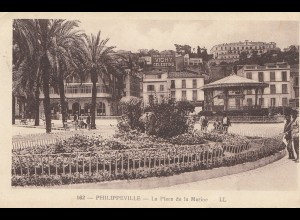 French colonies Algerie post card Philippeville, place de la Marine