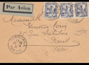 French colonies Tunisie 1931 par avioan Terourra