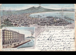 Italy: 1917 post card Naples to Lussin Grande/Lussin Piccolo