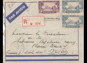 French colonies Senegal 1938 registered Saint Lou to Dijon