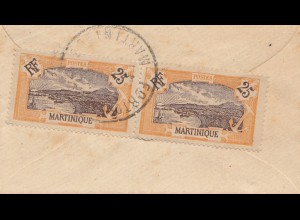French colonies Martinique 1920: Fort de France small letter to Paris