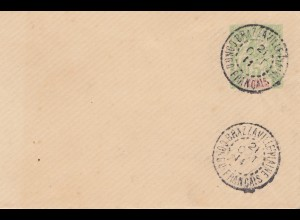 French colonies: Congo 1911, small letter cancel Brazzaville