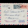 French colonies: Ivory coast 1957 air mail to Chicago, Taxe, Postage due