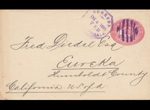 Guatemala: 1895: letter to Eureka/California - USA